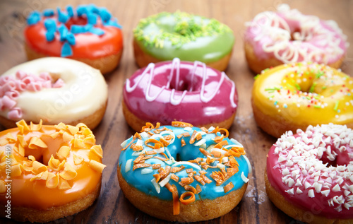 Foto op Canvas Brood baked donuts