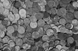 textured coins black and white