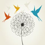 Dandelion and bird