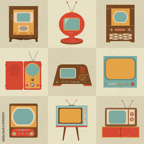Retro vintage Tv set