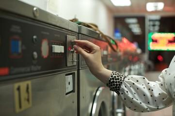 coin operated washing machine