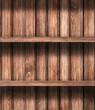 Wooden empty shelves background