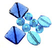 Large Blue Glass Beads