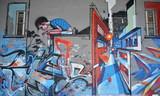 Fototapete Trauma - Fassade - Graffiti