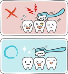 歯磨きのやり方