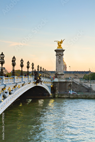 Bridge of Alexandre III in  Paris, France