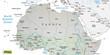 Karte vom Norden Afrikas