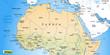 Landkarte vom Norden Afrikas