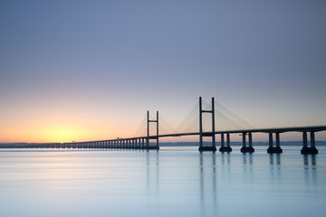 New Severn Bridge at sunrise