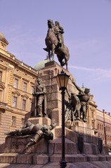 The Grunwald monument in Krakow in Poland