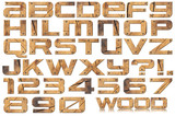 Fototapety Grunge Metal Letters and Numbers