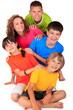 Group of happy children