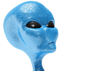 alien isolated in white background
