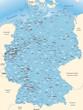 Umgebungskarte von Deutschland mit Postleitzahlen