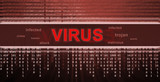 computer virus detection. Spyware concept poster