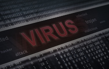 computer virus detection. Spyware concept