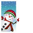 Snowman card. vector