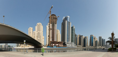 Dubai Marina Yacht and Skyscrapers