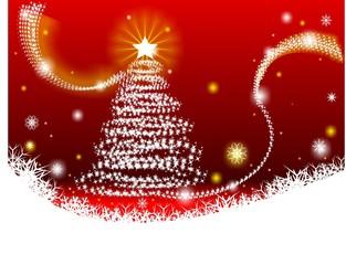 Christmas background and Christmas beauty fir-tree