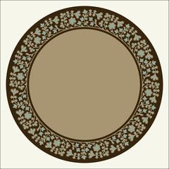 Amir Circle Floral Frame