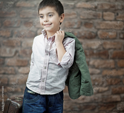 Fine picture of businessman child