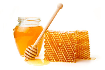 Honeycomb with jar