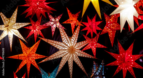 Colorful Christmas Stars
