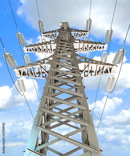 Power Transmission Line. 3d render