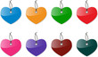 Glossy heart labels