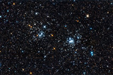 Starfield. A double star cluster in Perseus