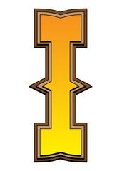 Western alphabet letter - I