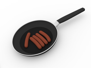 Pan with sausage