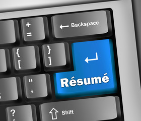 "Keyboard Illustration ""Resume"""