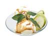 Карамельное мороженое с фруктами и мятой