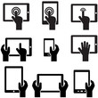 Icon set tablets and gadgets with touch screen