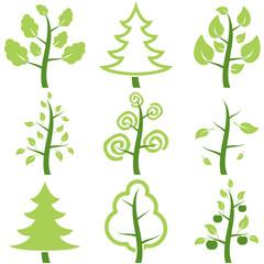 Set icons trees.