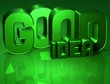 3D Word Good Idea on green background