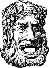 ancient drama mask