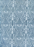 Blue embroidery pattern