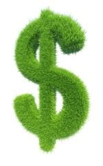 green grass symbol dollar