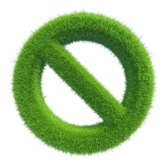 Green grass symbol no