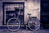 Classic vintage retro city bicycle in Copenhagen, Denmark - 47922850