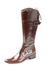 Brown high boot
