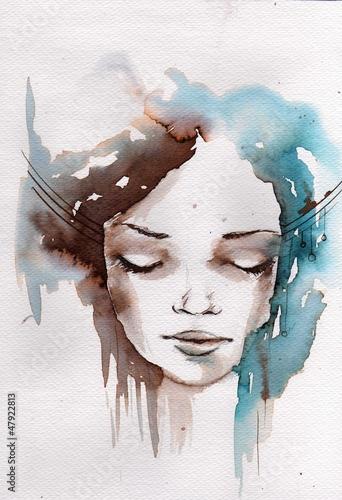 Winter, cold portrait - 47922813
