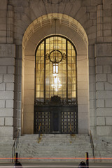 Entrance to Art Deco Building