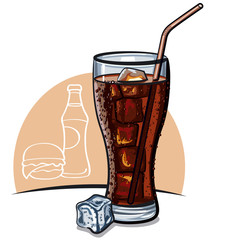 cola with ice