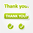 Set of Thank You Bent Stickers and Labels