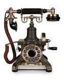 Retro Phone - Vintage Telephone isolated on White Background