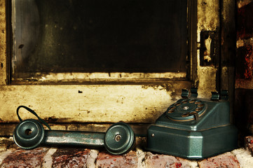 Retro Phone - Off the Hook Vintage Telephone by Old Grunge Windo