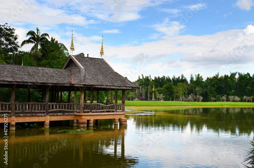 pavilion at lake, thailand
